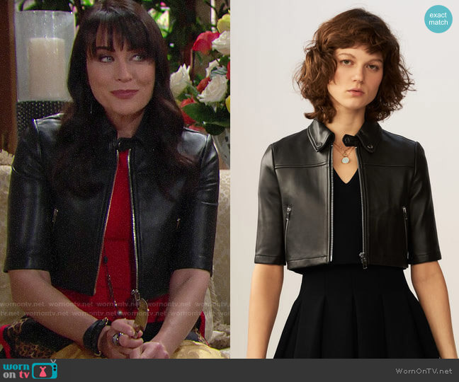Maje Brittany Jacket worn by Rena Sofer on The Bold & the Beautiful