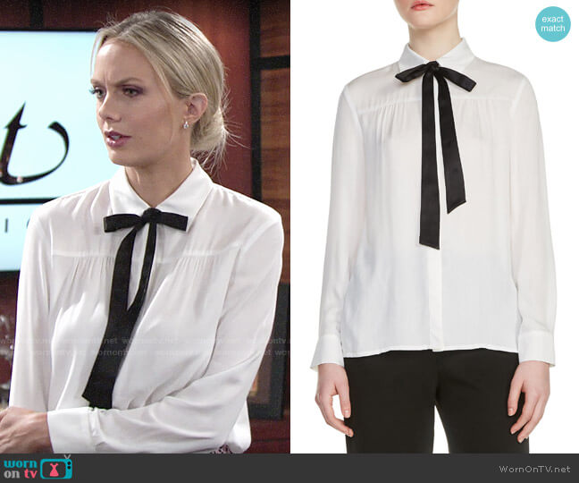 Maje Caryota Blouse worn by Melissa Ordway on The Young & the Restless
