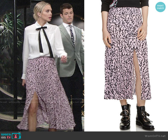 Maje Javina Skirt worn by Melissa Ordway on The Young & the Restless