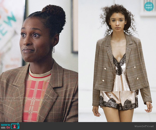 Maki Oh AW 2018 Collection Plaid Jacket worn by Issa Dee (Issa Rae) on Insecure