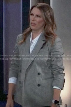 Margaux's grey blazer on General Hospital