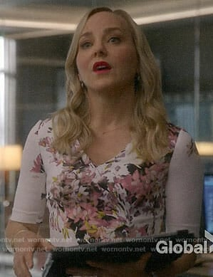 Marissa's pink floral dress on Bull