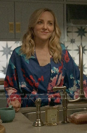 Marissa's floral robe on Bull