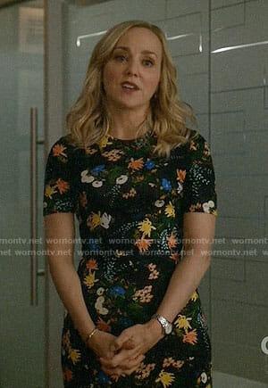 Marissa's floral short sleeved dress on Bull