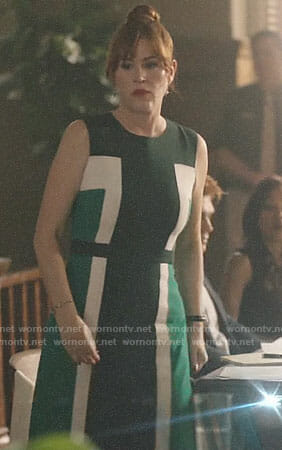 Mary's green colorblock dress on Riverdale