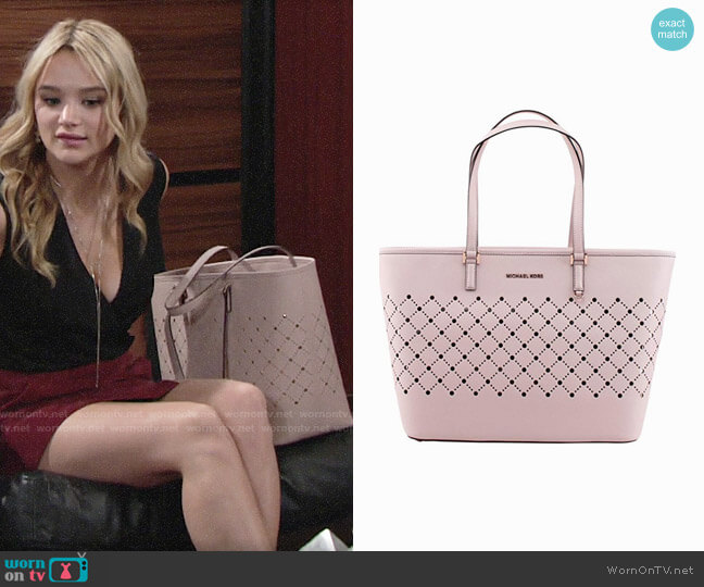 Michael Kors Violet Bag worn by Hunter King on The Young & the Restless