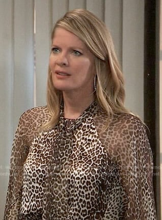 Nina's leopard blouse on General Hospital
