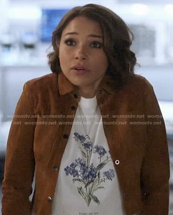 Nora's flower graphic tee on The Flash