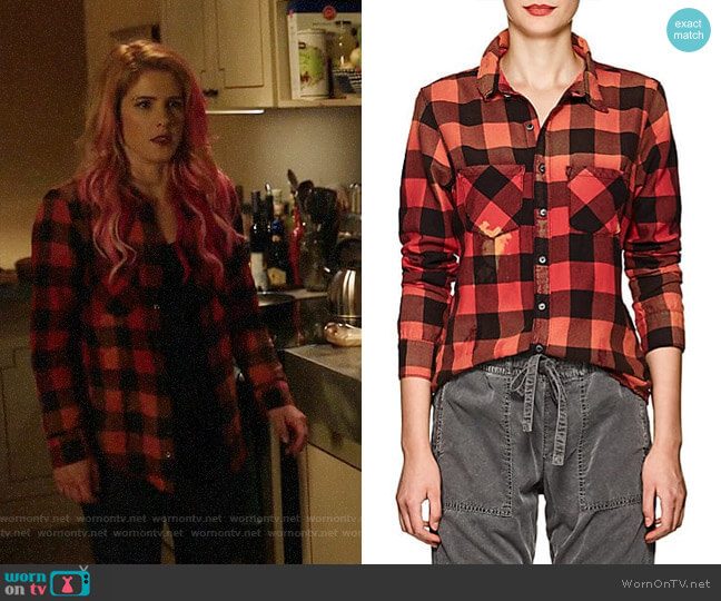 NSF Kimberly Check Shirt worn by Felicity Smoak (Emily Bett Rickards) on Arrow