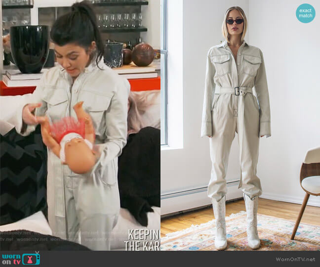 Workwear Jumpsuit Off-White by Orseund Iris worn by Kourtney Kardashian  on Keeping Up with the Kardashians