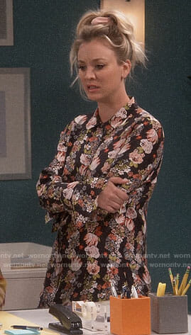 Penny's floral shirtdress on The Big Bang Theory