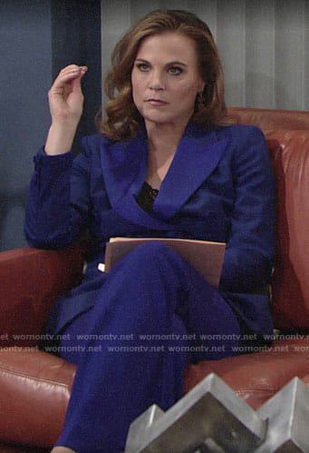 Phyllis's blue pant suit on The Young and the Restless