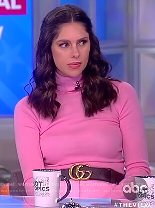 Abby's pink turtleneck sweater on The View