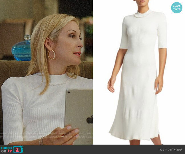 Proenza Schouler Rib Knit Midi Dress worn by Melissa Daniels (Kelly Rutherford) on Dynasty