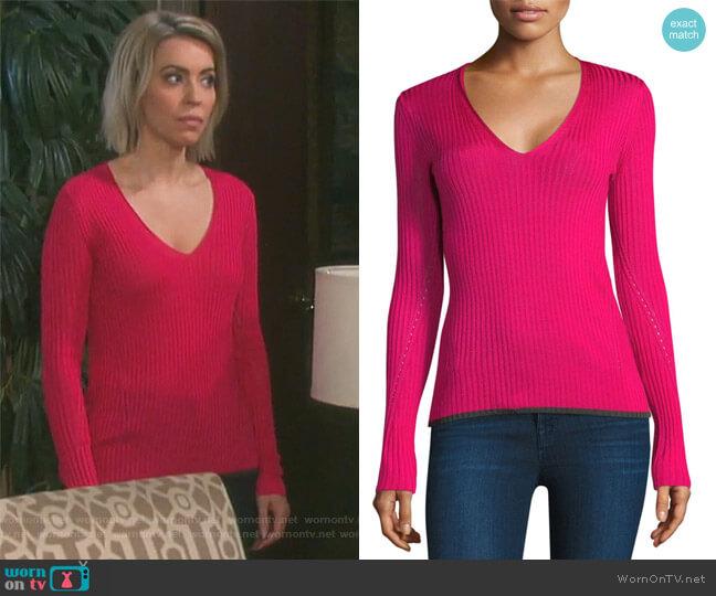 Alyssa Sweater by Rag & Bone worn by Farah LeeAllen Fath on Days of Our Lives worn by Mimi Lockhart (Farah Fath) on Days of our Lives