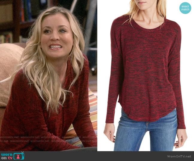 Rag and Bone Hudson Tee worn by Penny Hofstadter (Kaley Cuoco) on The Big Bang Theory