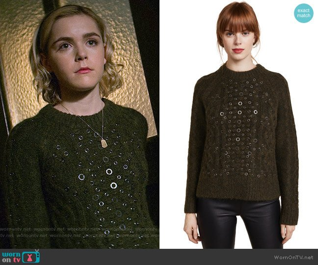 Rag & Bone Jemima Sweater worn by Kiernan Shipka on Chilling Adventures of Sabrina