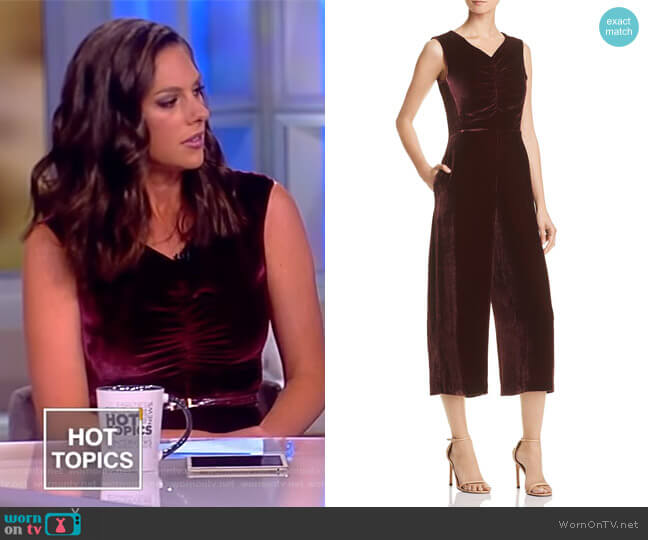 Cropped Velvet Jumpsuit by Rebecca Taylor worn by Abby Huntsman  on The View