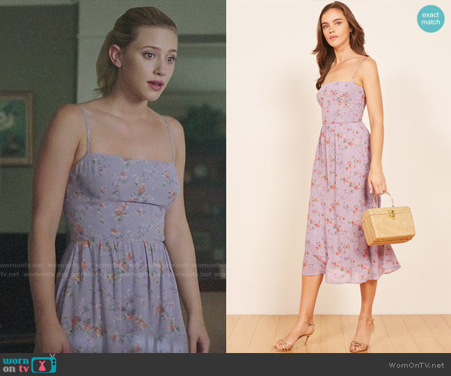 Reformation Rosehip Dress worn by Betty Cooper (Lili Reinhart) on Riverdale