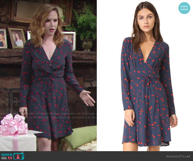 Rollas Dancer Wrap Dress worn by Camryn Grimes on The Young & the Restless