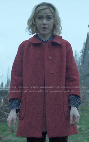 Sabrina's red coat on Chilling Adventures of Sabrina