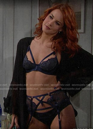 Sally's blue lingerie on The Bold and the Beautiful