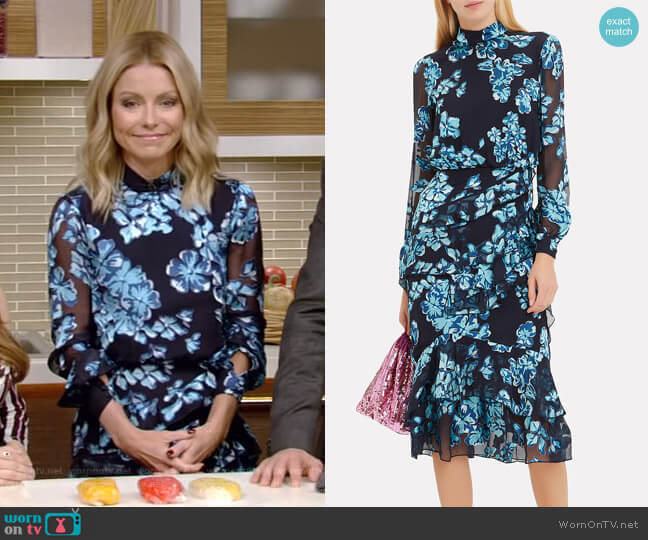 Isla Dress by Saloni worn by Kelly Ripa  on Live with Kelly & Ryan