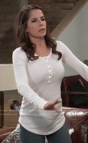Sam's white henley top on General Hospital