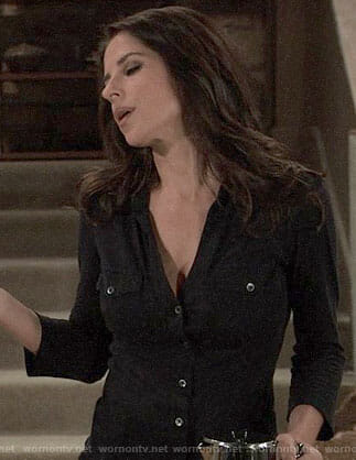 Sam's black button down shirt on General Hospital