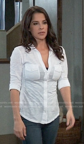 Sam's white button down shirt on General Hospital