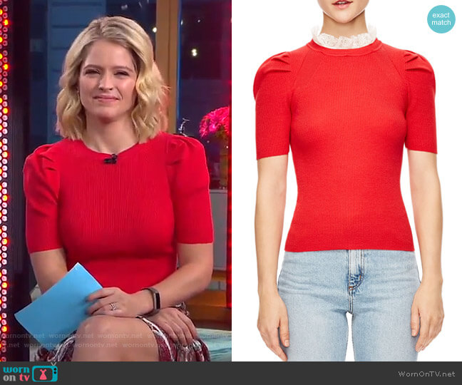 Sphynx Sweater by Sandro worn by Sara Haines on Good Morning America