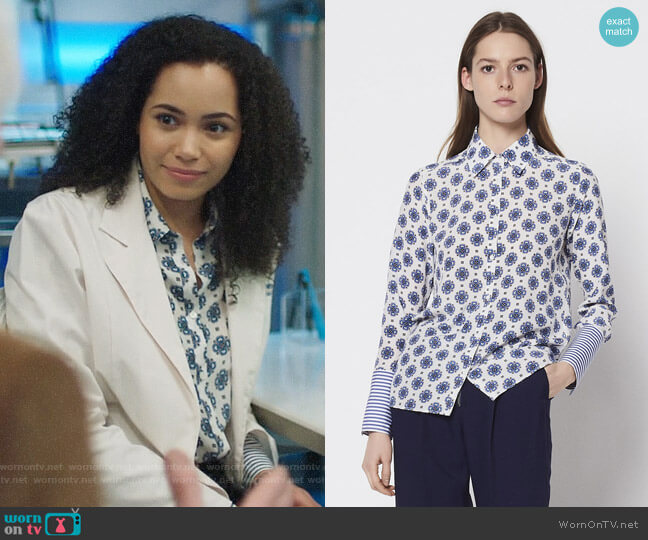 Sandro Coleta Blouse worn by Madeleine Mantock on Charmed
