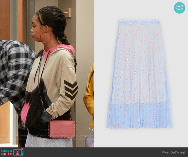 Sandro Eode Skirt worn by Zoey Johnson (Yara Shahidi) on Blackish