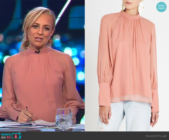 Dream Scene Top by Sass & Bide worn by Carrie Bickmore  on The Project