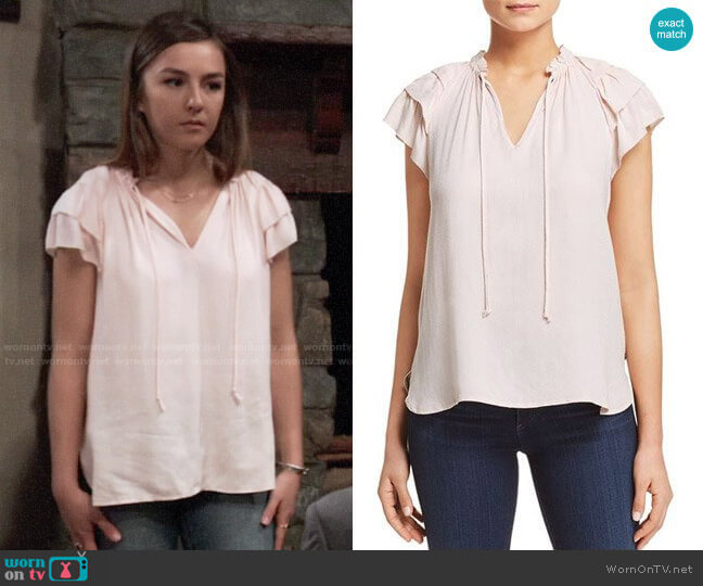 Scotch & Soda Tiered Ruffle Sleeve Top worn by Kristina Corinthos (Lexi Ainsworth) on General Hospital