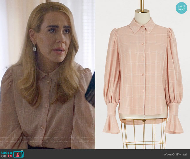 See by Chloe Fluid Checks Top worn by Cordelia Foxx (Sarah Paulson) on American Horror Story