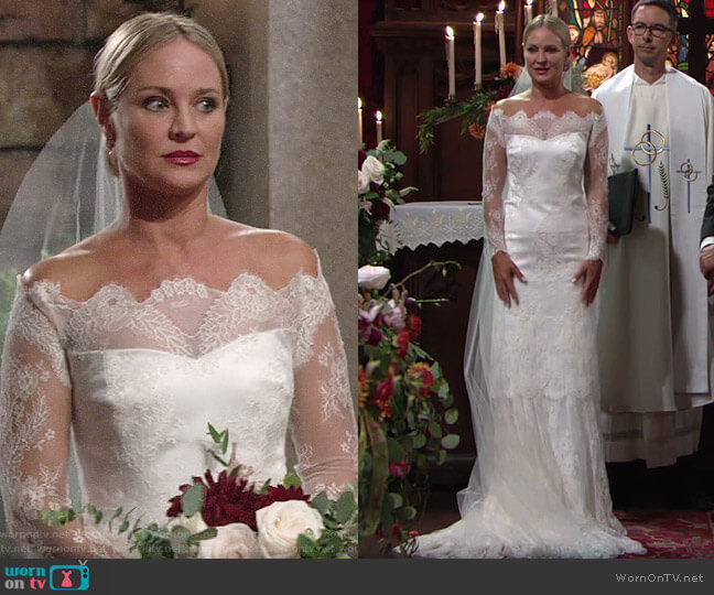 Custom Made Wedding Gown worn by Sharon Collins (Sharon Case) on The Young & the Restless