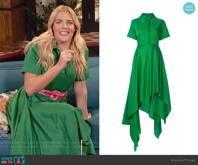 Solace London Asymmetric Shirtdress worn by Busy Philipps  on Busy Tonight