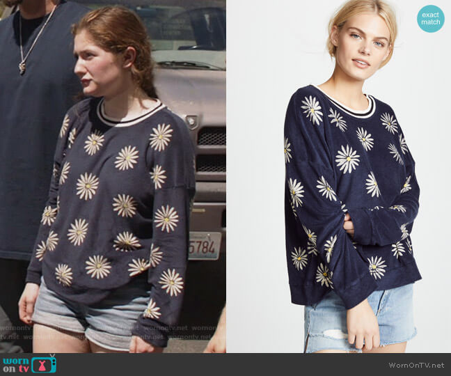 x Margherita Missoni Fiore Sweatshirt by Splendid worn by Debbie Gallagher (Emma Kenney) on Shameless