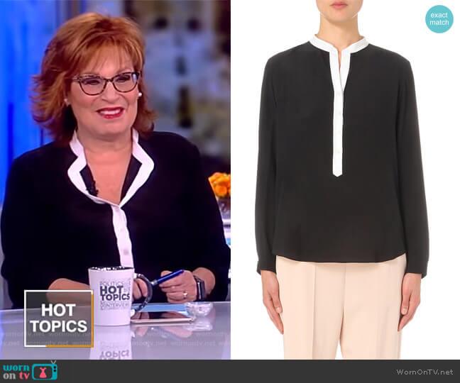 Contrast-placket silk shirt by Stella McCartney worn by Joy Behar  on The View