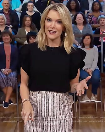 Megyn's striped midi skirt on Megyn Kelly Today
