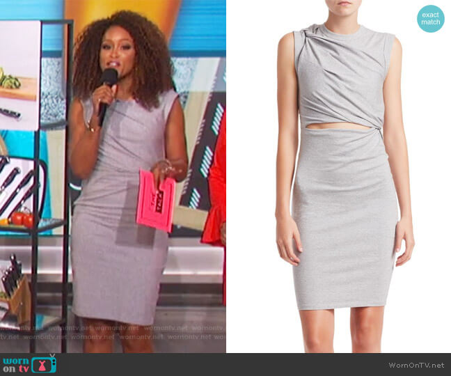Stretch Crepe Cutout Sheath Dress by T by Alexander Wang worn by Eve  on The Talk
