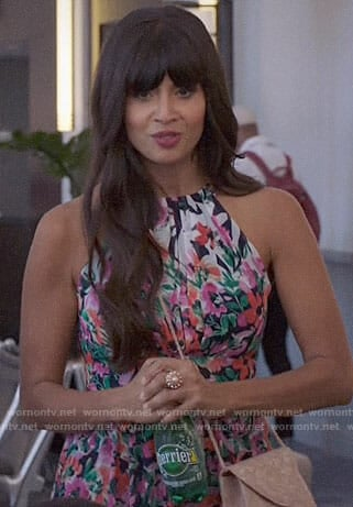 Tahani's floral maxi dress on The Good Place