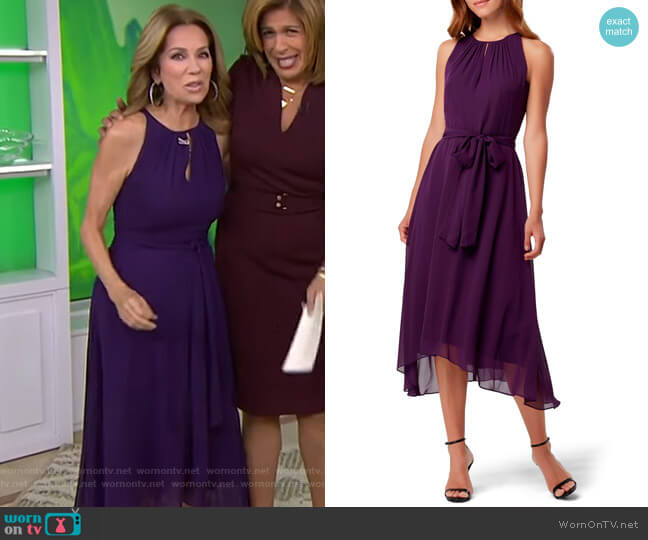 Sleeveless Chiffon Midi Dress by Tahari ASL worn by Kathie Lee Gifford  on Today