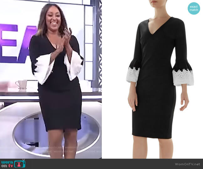 Rastrel Bell Sleeve Dress by Ted Baker worn by Tamera Mowry on The Real