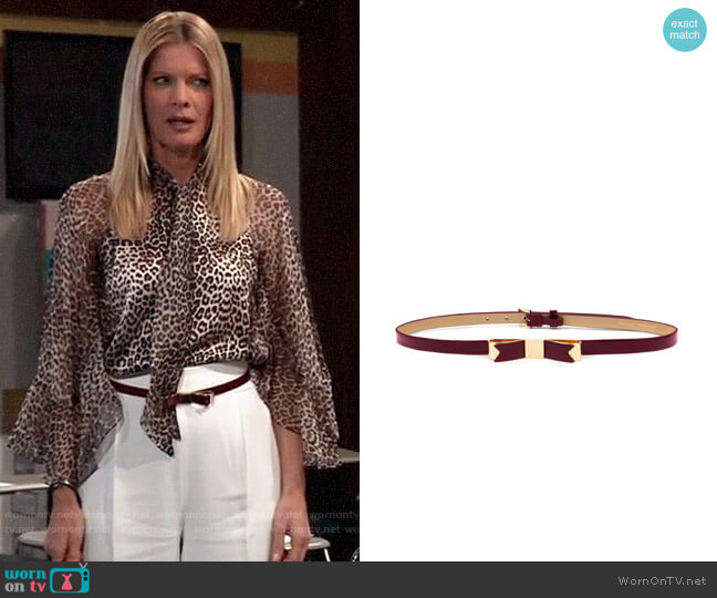 Ted Baker Skinny Bow Belt worn by Nina Reeves (Michelle Stafford) on General Hospital
