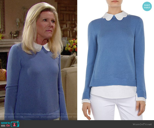Ted Baker Bronwen Layered-Look Sweater worn by Alley Mills on The Bold & the Beautiful