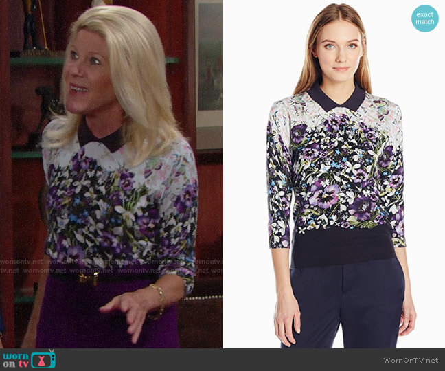 Ted Baker Ibele Entangled Enchantment Sweater worn by Alley Mills on The Bold & the Beautiful