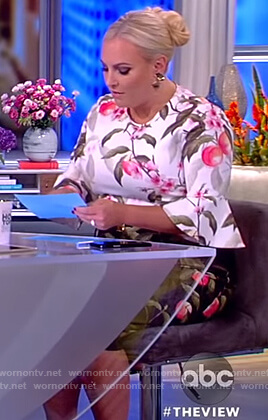 Meghan's peach print dress on The View