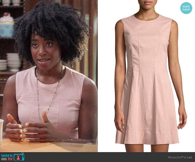 Theory Modern Linen Sleeveless Shift Dress worn by Simone Garnett (Kirby Howell-Baptiste) on The Good Place